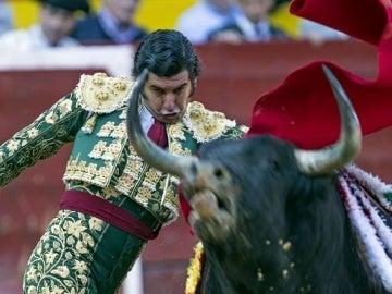 """El diestro sevillano """"Morante de la Puebla"""" en la faena de muleta a """"Dardabasi"""""""