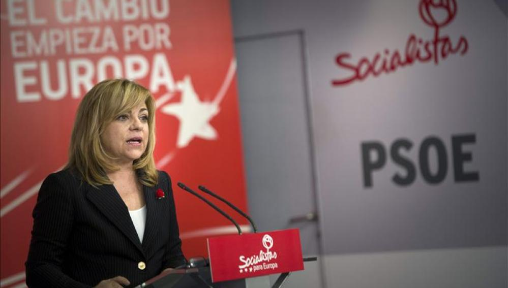 La cabeza de lista del PSOE a las elecciones europeas, Elena Valenciano