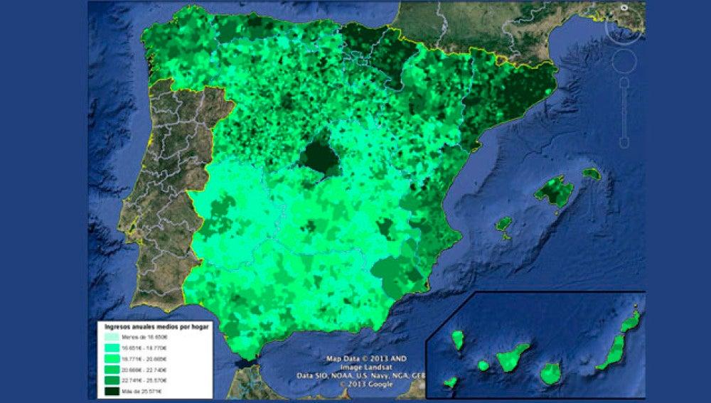 Boadilla del Monte (Madrid) es el municipio con la media de ingresos familiares más elevada de España