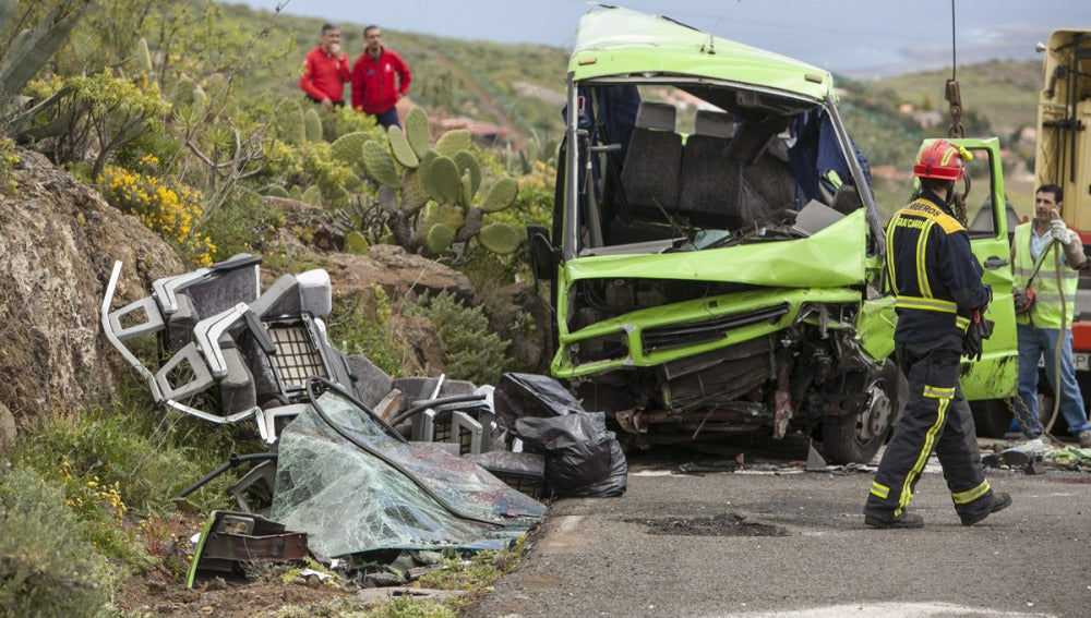 Accidente de tráfico en Gran Canaria
