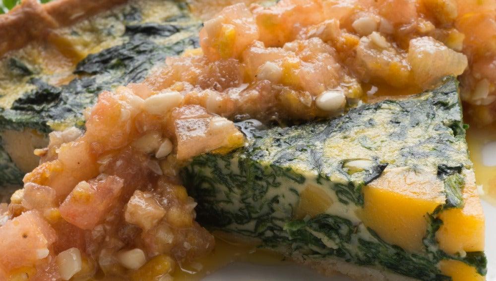 Tarta de espinacas y queso