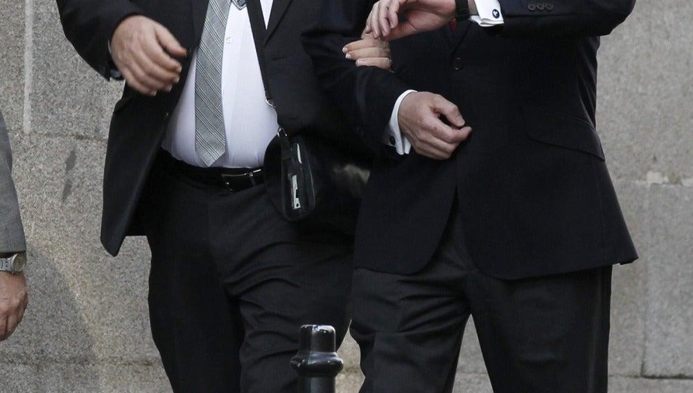 Pablo Crespo y Miguel Duran a su llegada al juzgado