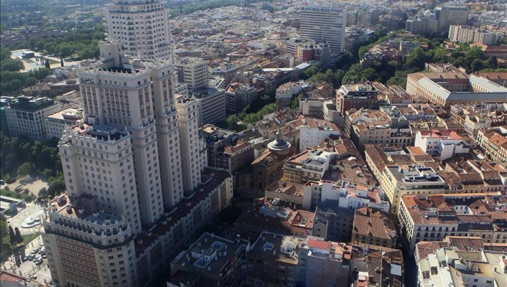 Vista de la fachada posterior del Edificio España