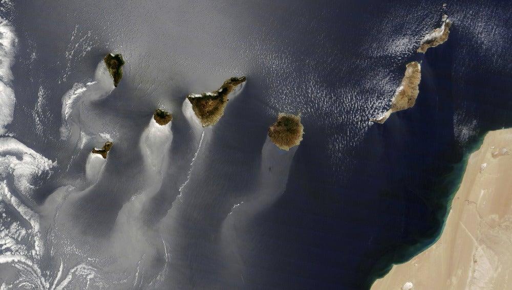 La foto del archipiélago canario tomada por el satélite Terra