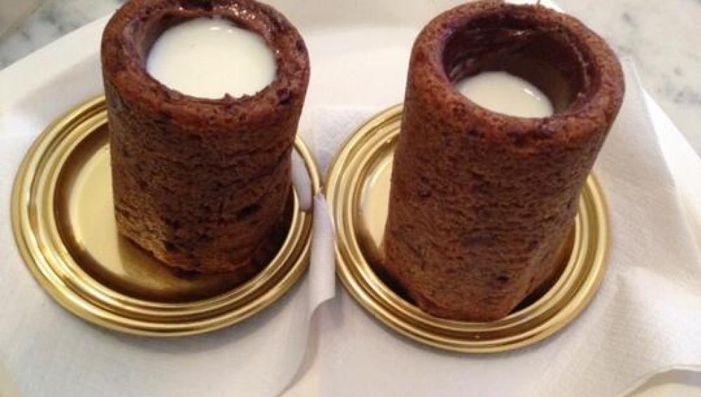 Nuevo dulce: galleta de chocolate rellena de leche