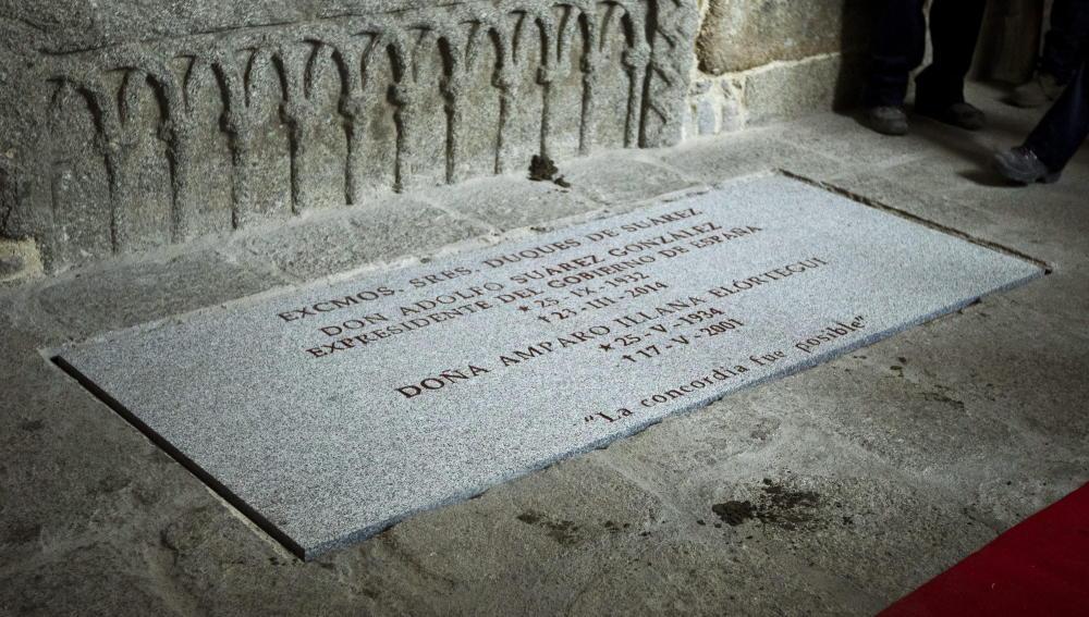 Tumba donde descansan los restos mortales de Adolfo Suárez junto a los de su esposa, Amparo Illana