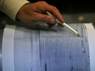 Imagen de archivo de un sismógrafo en el que aparece registrado un terremoto.