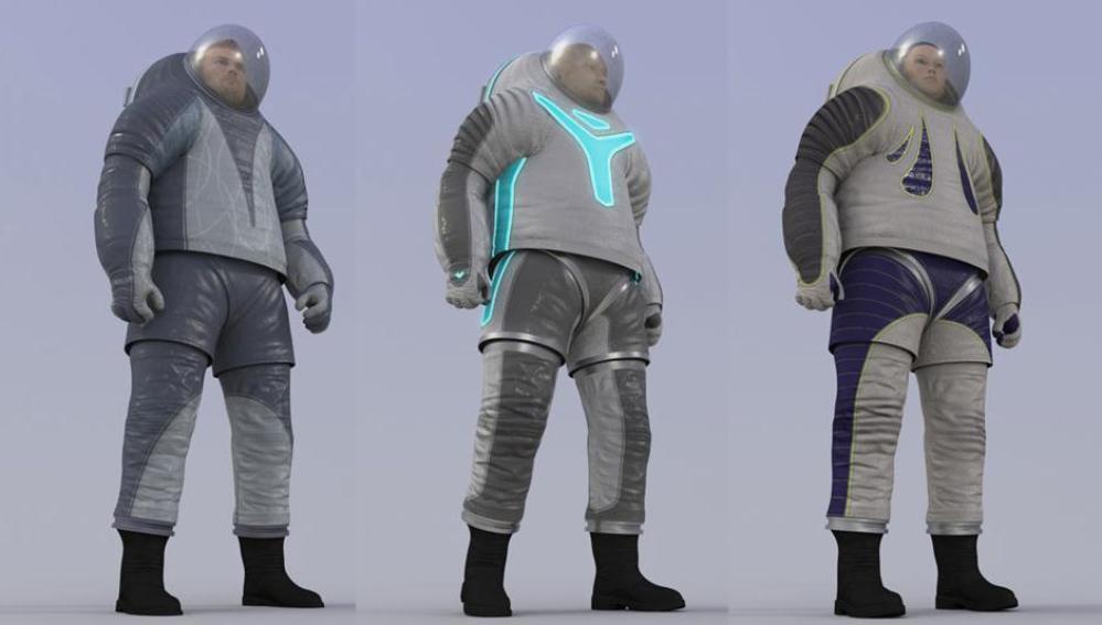 Las tres opciones que propone la NASA en los trajes para los colonos de Marte