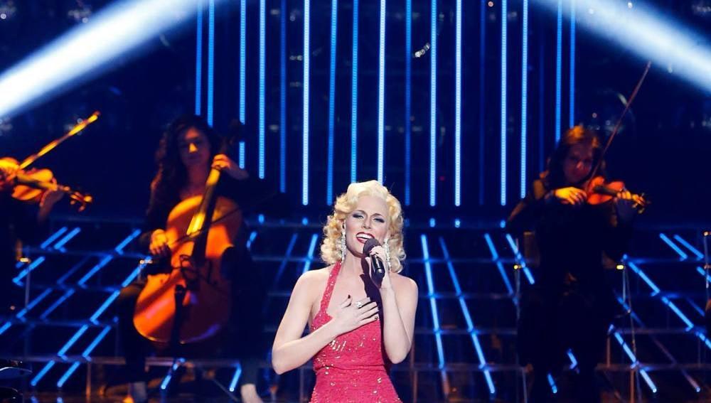 Edurne imita a Christina Aguilera en Tu cara me suena