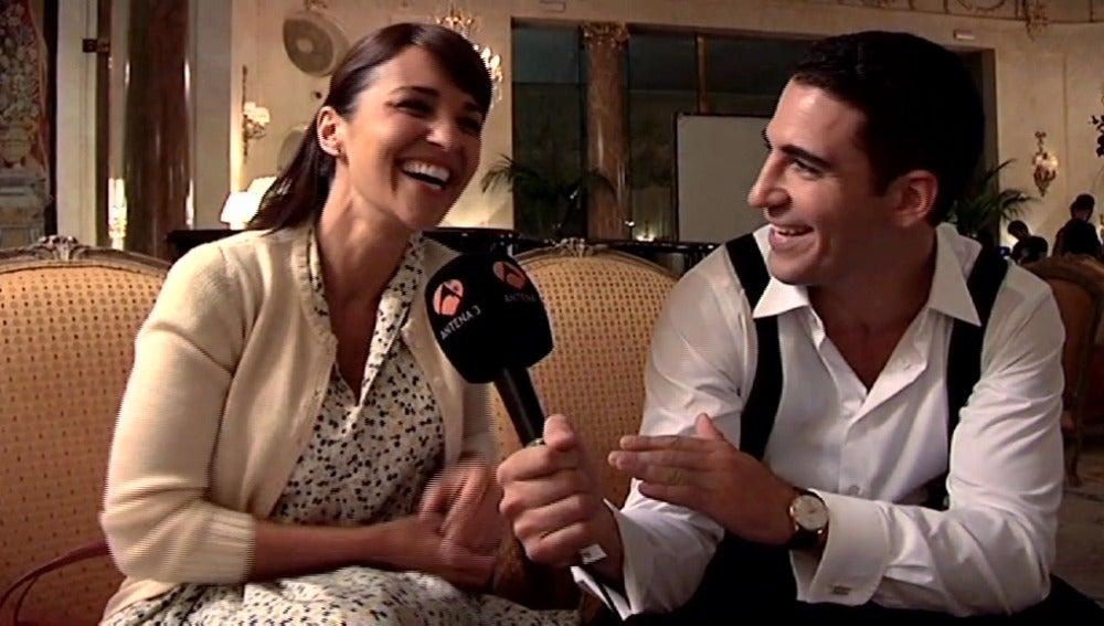 Paula Echevarría y Miguel Ángel Silvestre en el Hotel Ritz Madrid