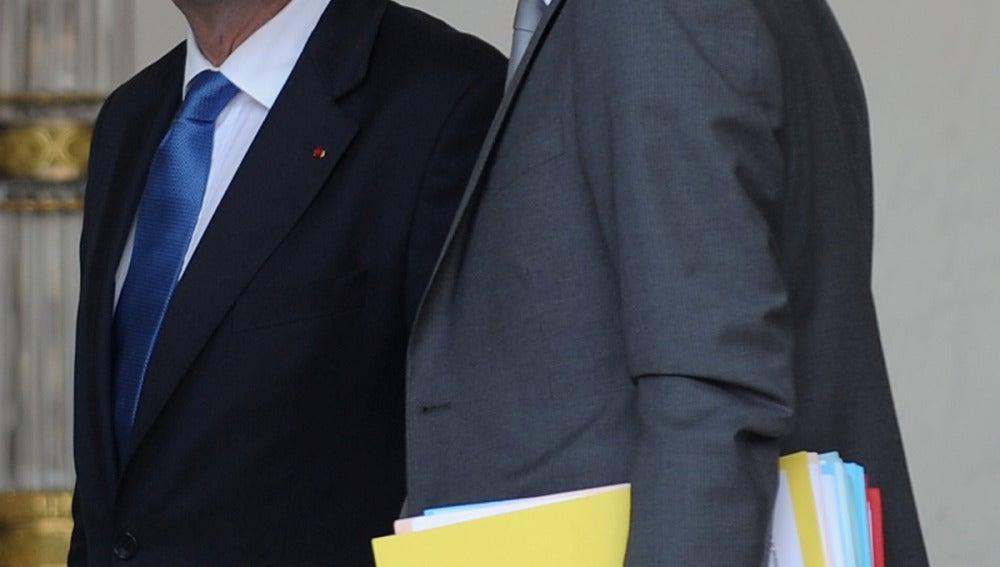 Manue Valls junto a Francois Hollande
