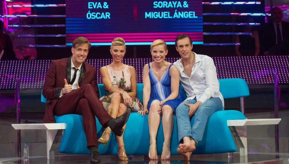 Óscar y Eva, Soraya y Miguel