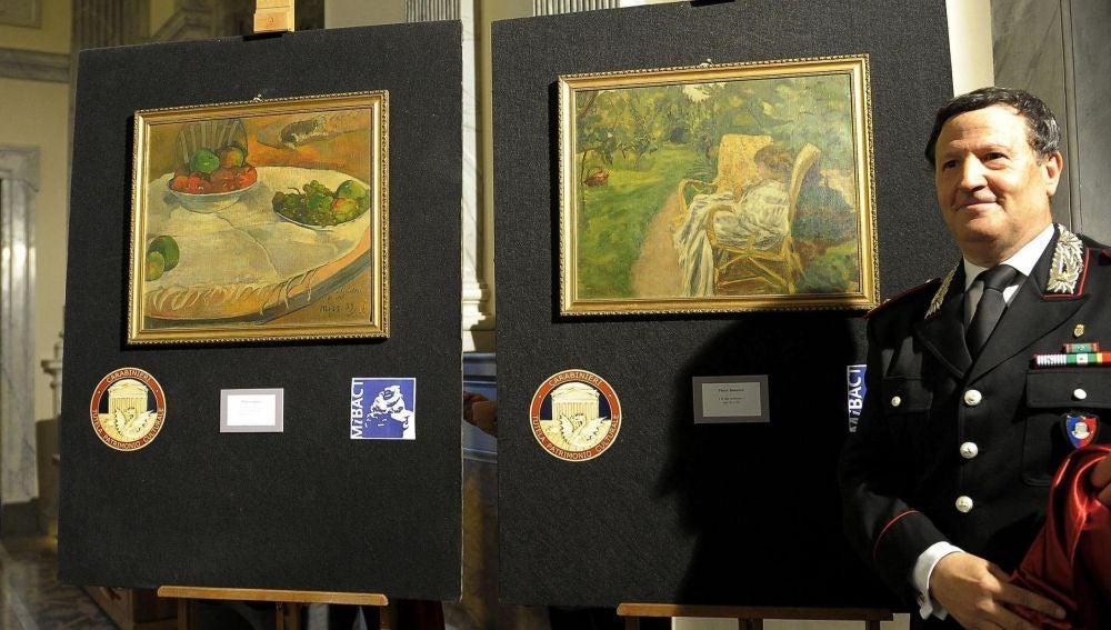 Descubren dos pinturas de Paul Gauguin y Pierre Bonnard hallados tras su robo en los años 70