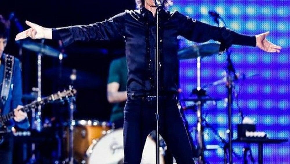 Mick Jagger durante un concierto