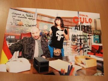 Poster firmado de Chema y Eli