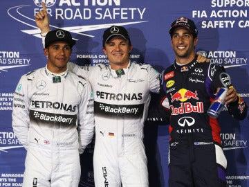 Rosberg, Hamilton y Ricciardo, los más rápidos de clasificación