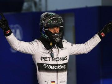 Nico Rosberg, exultante