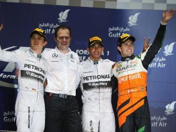 El podio de Baréin