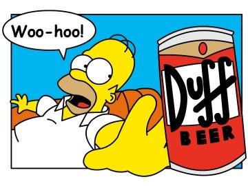 Homer y la cerveza Duff: una relación de amor.