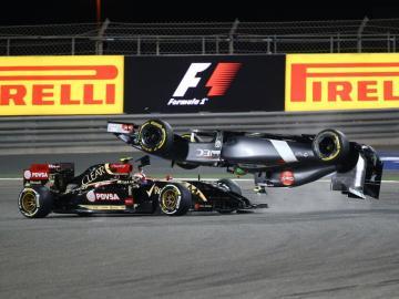 El coche de Gutiérrez dio un gran giro tras ser arrollado por Maldonado