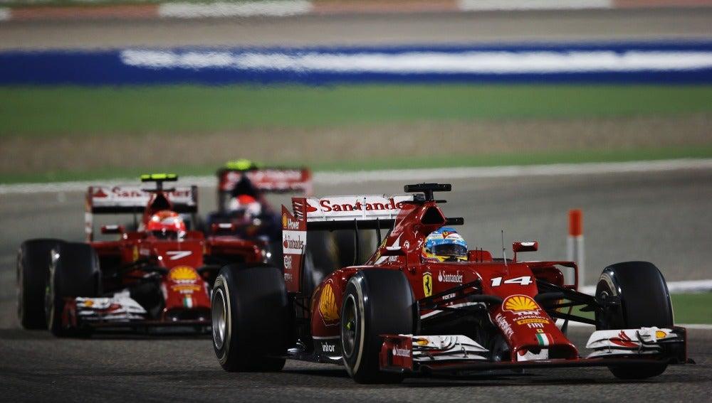 Los dos Ferrari en Sakhir