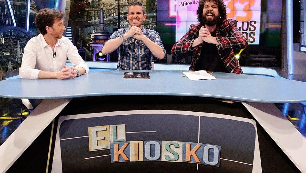 Pablo, Juan y Damian en El Kiosko