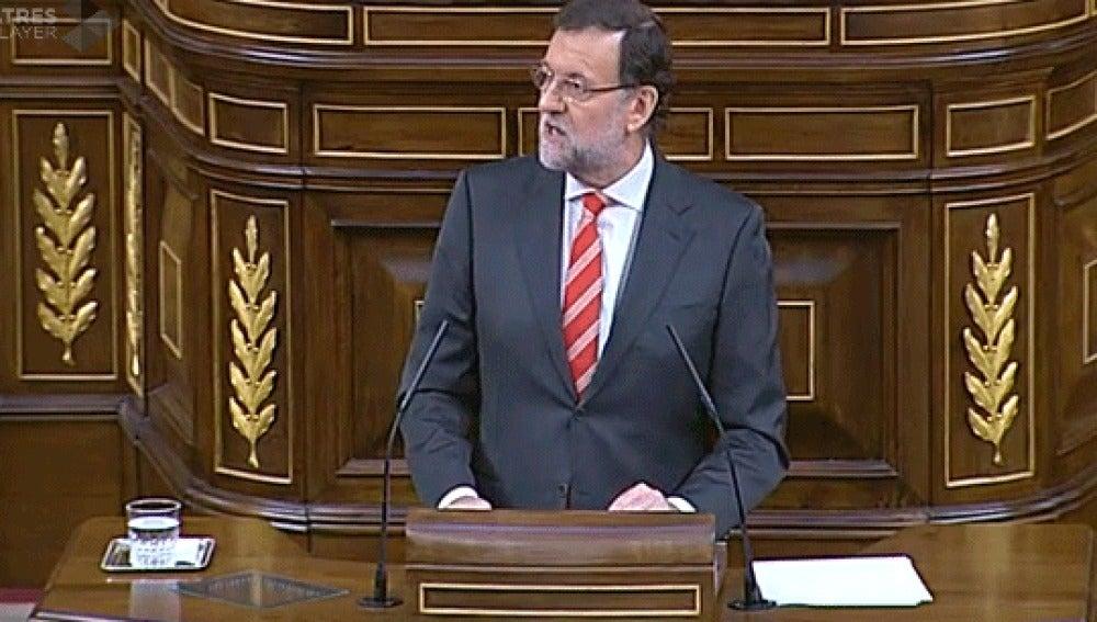 Rajoy, en el debate sobre la consulta catalana