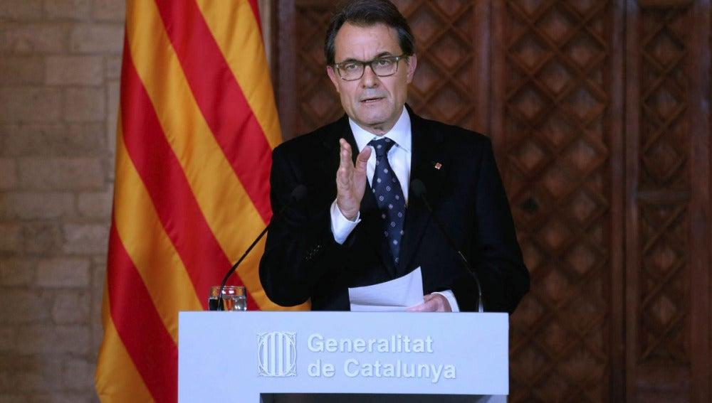 Artur Mas tras el rechazo del Congreso