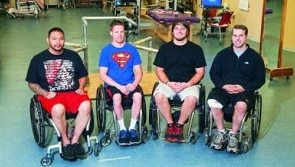 Cuatro pacientes con paraplejia