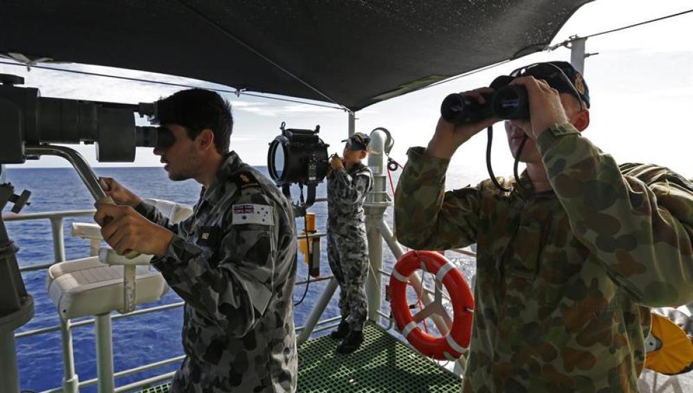 Labores de búsqueda de los restos del vuelo MH370 de Malaysia Airlines
