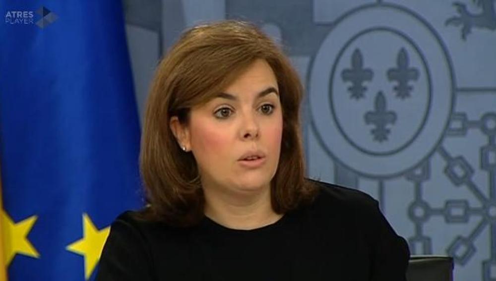 Sáenz de Santamaría tras en Consejo de Ministros