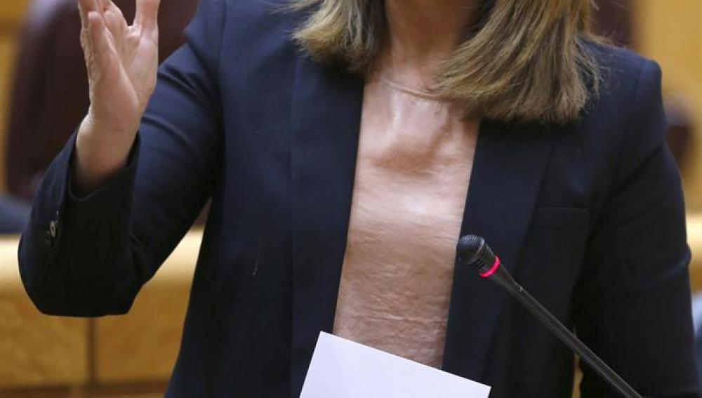 Fátima Báñez en la sesión de control al Gobierno