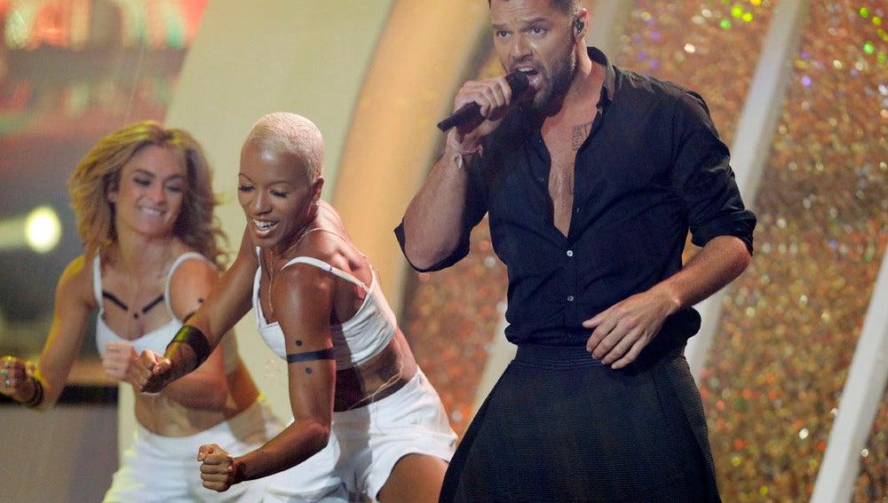 Ricky Martin fue una de las grandes actuaciones de la noche