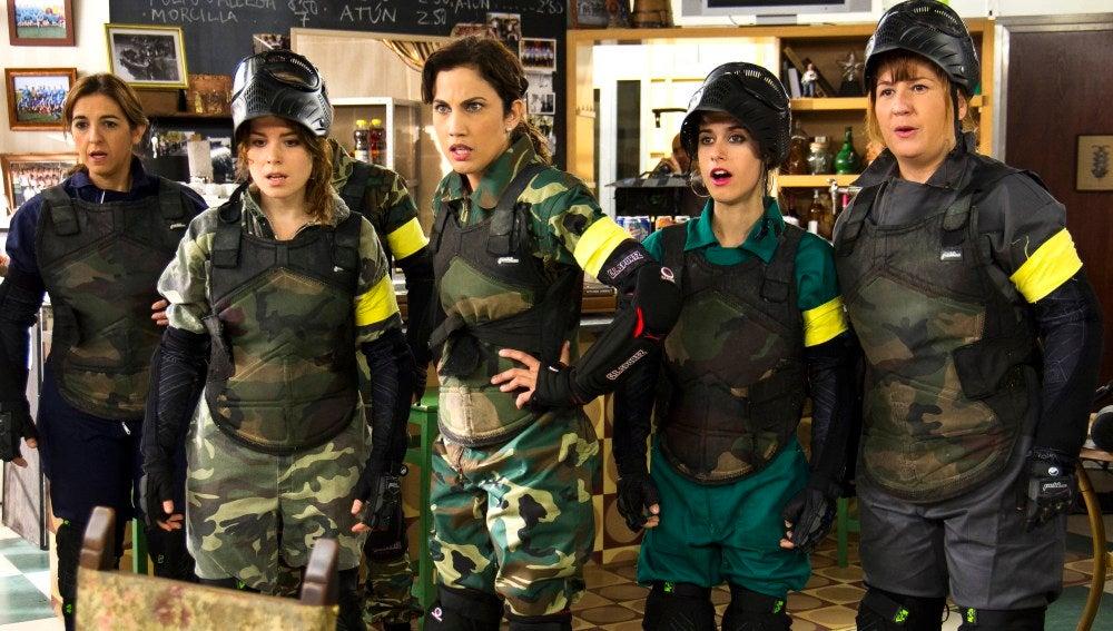 Las chicas en pie de guerra