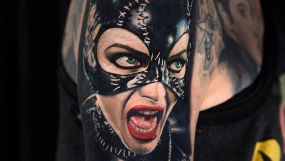 Catwoman en tatuaje