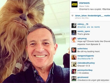 Primera 'selfie' de Chewbacca