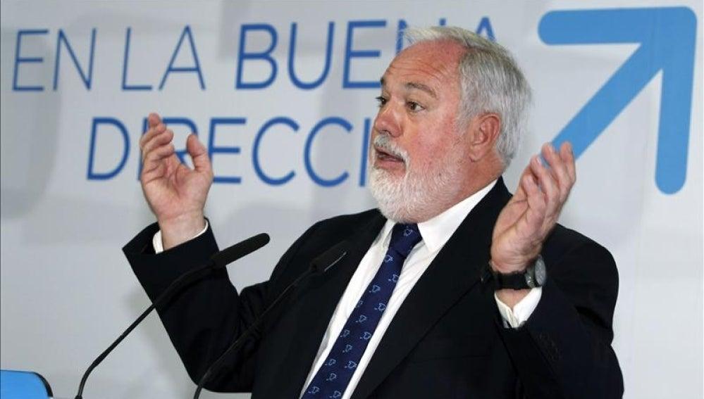Miguel Arias Cañete en un acto en Las Palmas de Gran Canaria