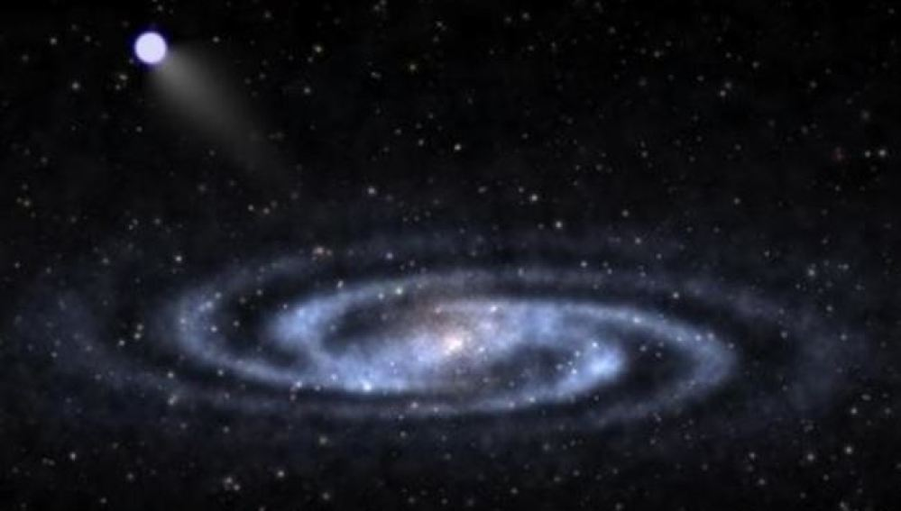 Imagen de la estrella hiperveloz descubierta