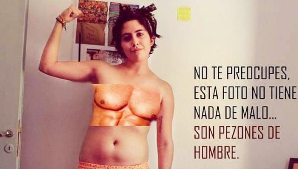 Imagen de la campaña contra la censura de pechos en Facebook.