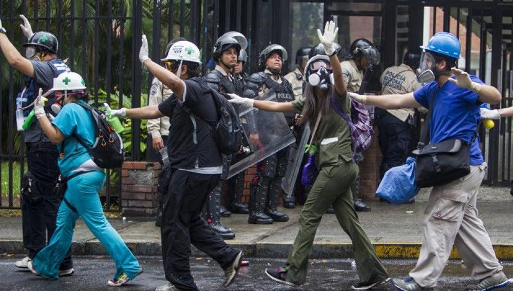Distrubios en Caracas