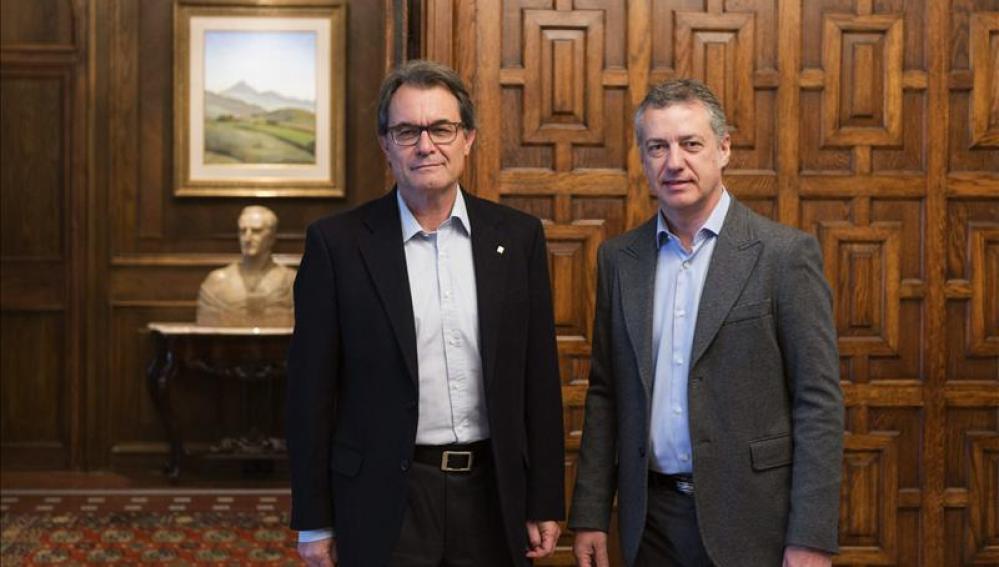 El Gobierno Vasco enmarca la reunión entre Urkullu y Mas en la normalidad democrática