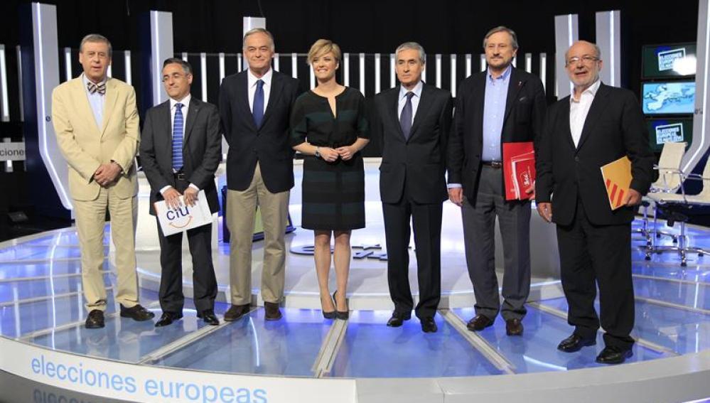 Los protagonistas del debate 'a seis' de cara a las elecciones europeas