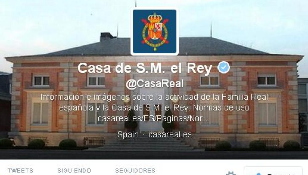 La Casa Real estrena cuenta en Twitter