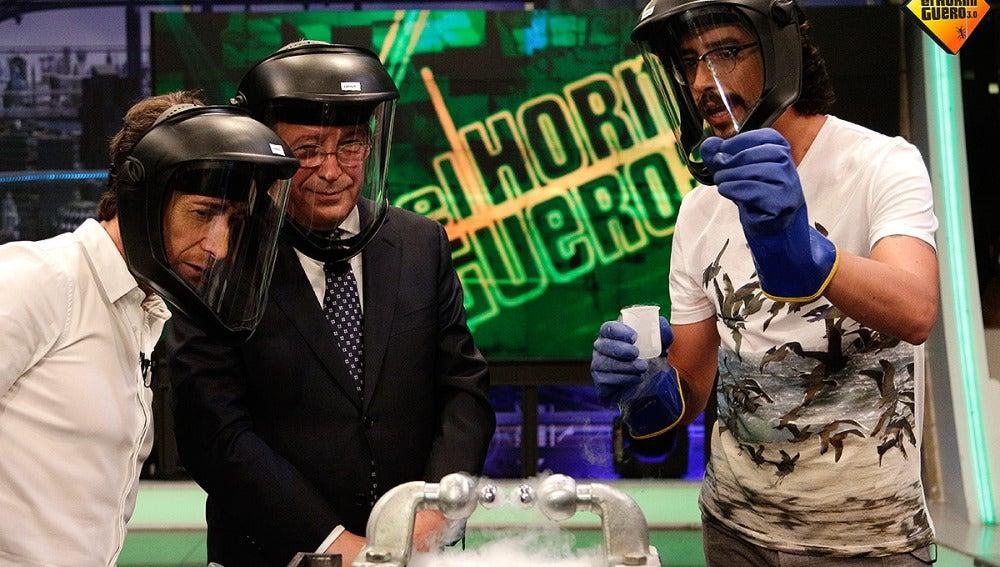 Marron junto a Enrique Cerezo y Pablo Motos en El Hormiguero 3.0