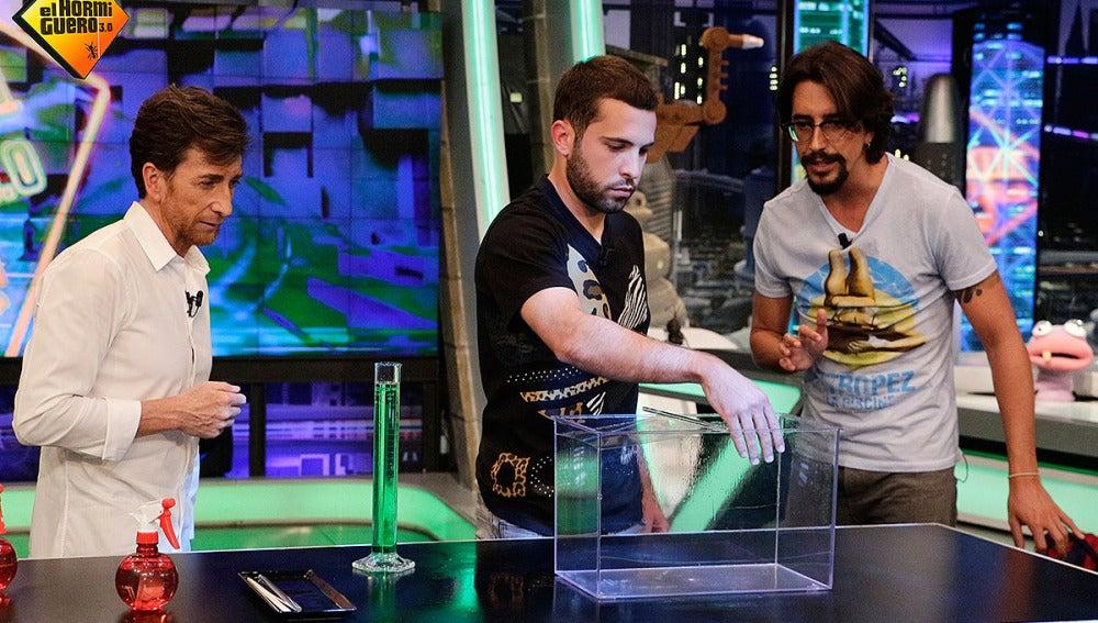 Jordi Alba con Marron y Pablo Motos en El Hormiguero 3.0