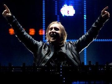 David Guetta durante un concierto
