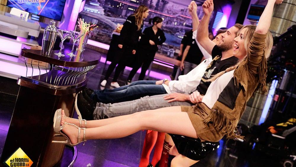 Anna Simon con Jordi Alba en El Hormiguero 3.0