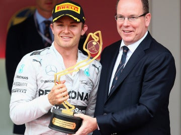 Rosberg, con Alberto de Mónaco