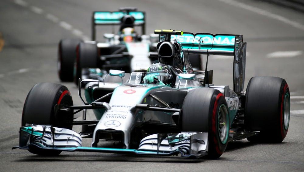 Rosberg y Hamilton, frente a frente
