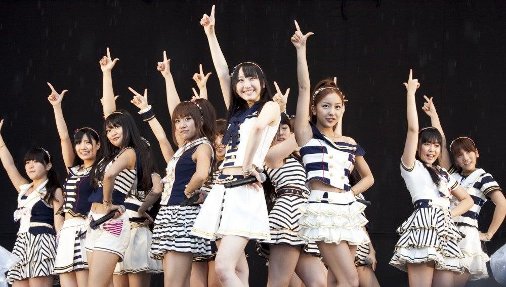 Las integrantes del grupo pop japonés AKB48